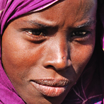 Afar woman from the Hamed Ela village