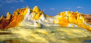 Dallol volcano in the Danakil Depression