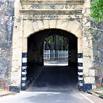 The entrance arch of Fort Fredrick