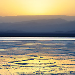 Salt lake in the Danakil Depression
