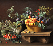 Still-Life with Fruit '1637' by Louise Moillon is placed in the Thyssen-Bornemisza Museum