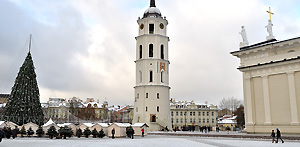 The bell tower of the Vilnius Cathedral